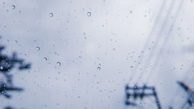 Raindrops on glass closeup Royalty Free Stock Photography