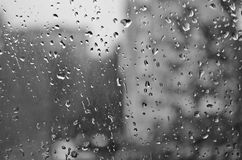 Raindrops on glass Royalty Free Stock Image