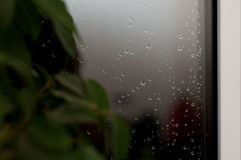 Raindrops on glass Royalty Free Stock Photos