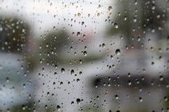 Raindrops on glass Stock Image