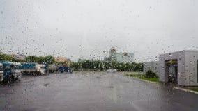 Raindrops on glass Royalty Free Stock Photo