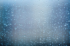 Raindrops on the glass Royalty Free Stock Photography