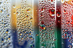 Raindrops on glass. And background, texture Stock Images