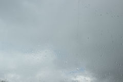 Raindrops on glass. Sadness sorrow gloom autumn. Royalty Free Stock Photography