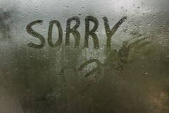 Raindrops on glass. Sadness sorrow gloom autumn. Royalty Free Stock Photo