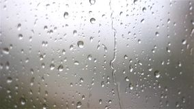 Raindrops on the glass stock footage