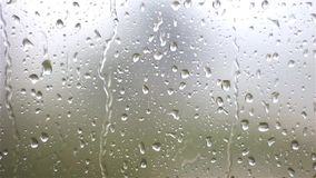 Raindrops on the glass stock video footage