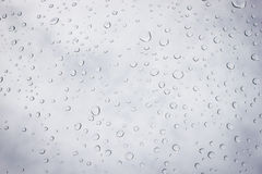 Raindrops on glass. Water drops on mirrors. Stock Image