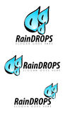 Raindrops illustration Royalty Free Stock Photos
