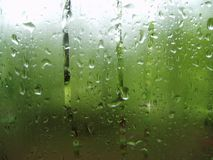 Raindrops keep fallin. Window raindrops image Royalty Free Stock Image