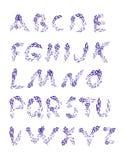 raindrops L'orario di alfabeto set Fonte disegnata a mano per la vostra progettazione Immagini Stock