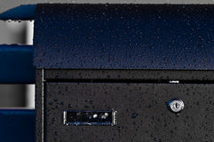 Raindrops on metal Royalty Free Stock Image