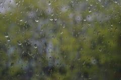 Raindrops na okno Fotografia Royalty Free