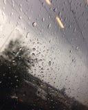 Raindrops na pociągu Fotografia Royalty Free