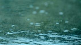 Raindrops na ziemi zdjęcie wideo