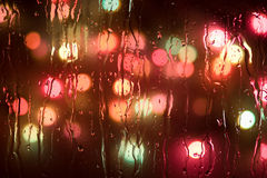 Raindrops på ett exponeringsglas Royaltyfri Foto