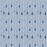 Raindrops pattern. Drawing of seamless pattern with drops of rain in blue colors Royalty Free Stock Photos