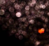 Raindrops przy nocą Obrazy Royalty Free
