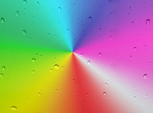 Raindrops on rainbow spectrum Royalty Free Stock Images