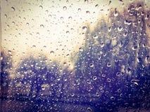 raindrops regna Royaltyfria Bilder