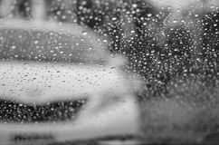 Raindrops and silhouettes. Randomly shot through my car windshield royalty free stock images