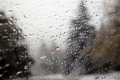 Raindrops on the surface window glass. Stock Photography