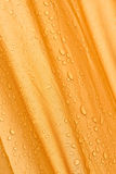 Raindrops on a tent. Royalty Free Stock Photo