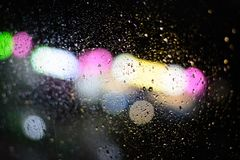 Raindrops on a transparent window glass.  royalty free stock images