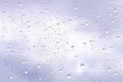 Raindrops Trough Window Royalty Free Stock Photos