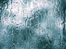 Raindrops. Water drops on the glass Stock Image