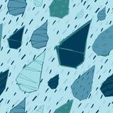 Raindrops Wektorowy Bezszwowy wzór Handdrawn Zdjęcie Stock