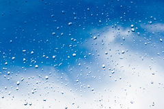 Raindrops window Royalty Free Stock Photos