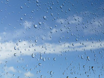 Raindrops on a window  Royalty Free Stock Image