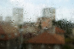 Raindrops on a window Stock Images