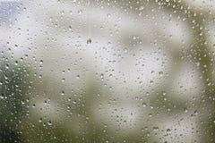 Raindrops on a window Royalty Free Stock Photo