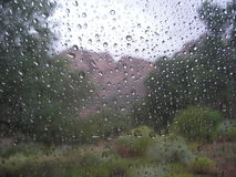 Raindrops On The Window Royalty Free Stock Photos