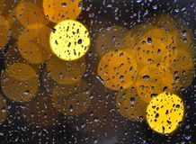 Raindrops on the window Royalty Free Stock Image