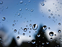 Raindrops on a window. Royalty Free Stock Photo
