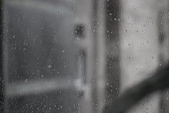 Raindrops at the window Royalty Free Stock Image