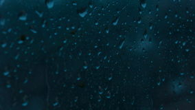 Raindrops on window stock footage