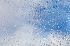 Raindrops on window glass Stock Photo