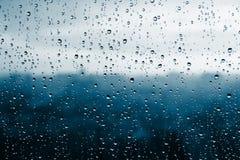 Raindrops on window glass. Royalty Free Stock Photography