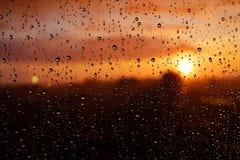 Raindrops on window glass. Royalty Free Stock Photos