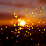 Raindrops on window glass. Royalty Free Stock Images