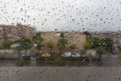 Raindrops on a window glass Stock Photography