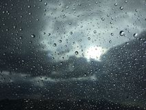 Raindrops on window glass Royalty Free Stock Photography