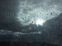 Raindrops on window glass Royalty Free Stock Photography