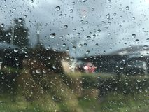 Raindrops on window glass Stock Photography