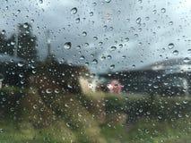 Raindrops on window glass Stock Photography