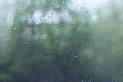Raindrops on a window glass Royalty Free Stock Photo